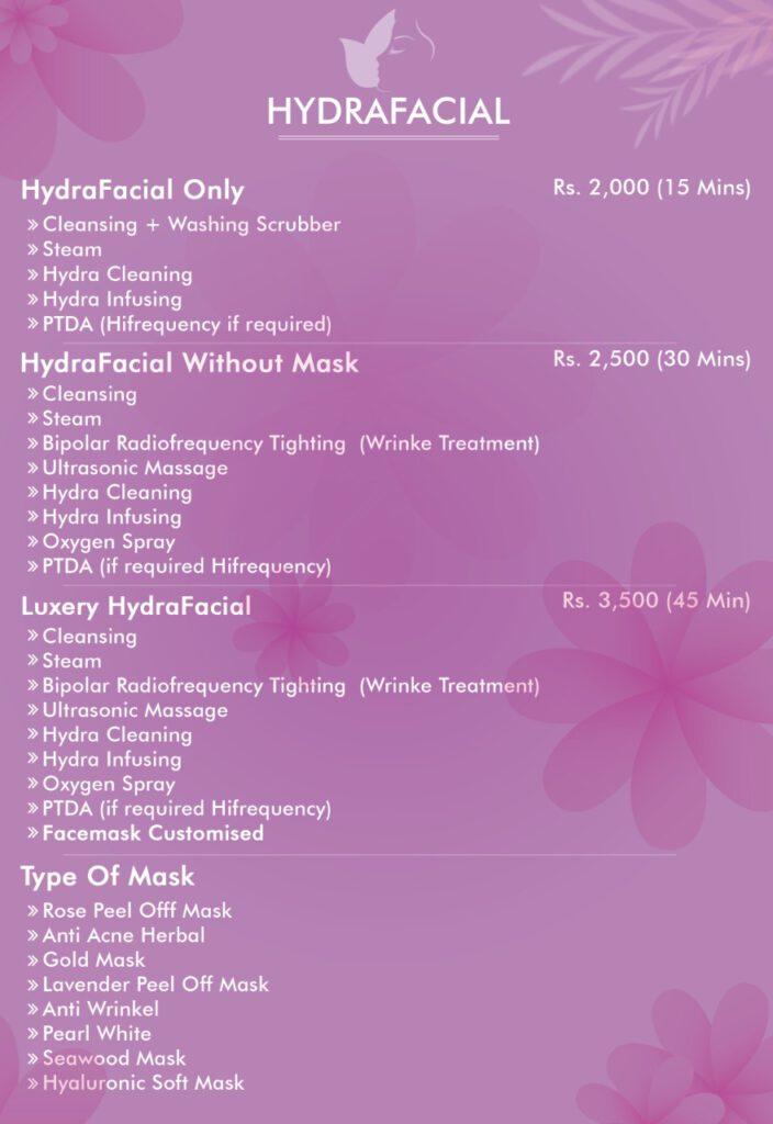 Hydrafacial Treatment Price